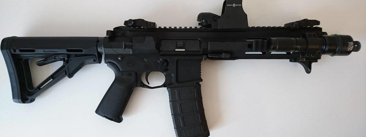 An AR-15 (assault rifle)