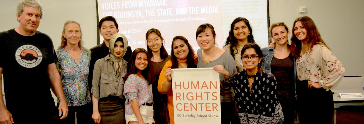 HRC Lab students pose after an event on Myanmar