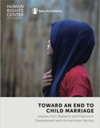 Toward an End to Child Marriage Report Cover